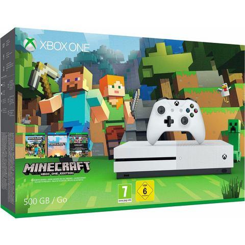 Xbox One S 500GB Minecraft bundel