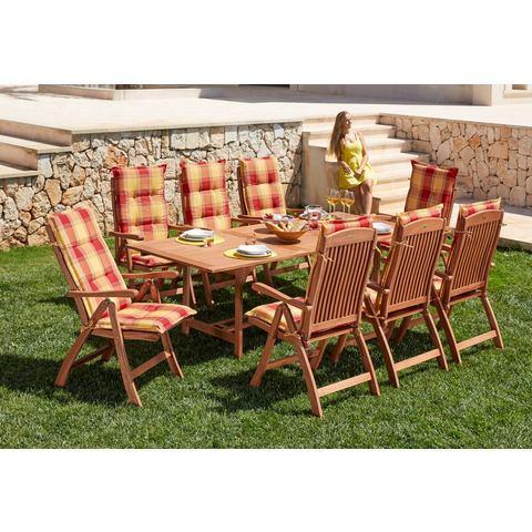 Tuinmeubelset Maracaibo, 17-dlg., voor 8 personen, 1 tafel 230x100cm, bruin