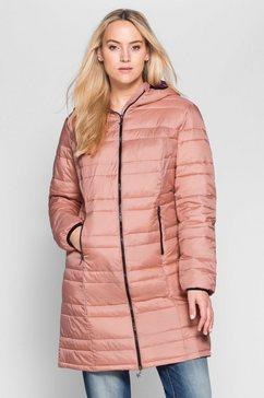 sheego casual doorgestikte jas in mini-tasje op te bergen roze