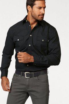 arizona overhemd met lange mouwen in westernstijl zwart