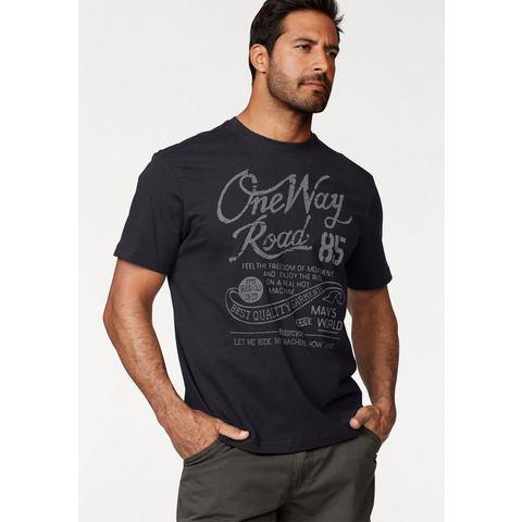 MAN'S WORLD T-shirt met print in used-look