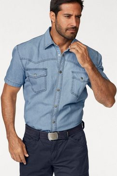 arizona jeansoverhemd korte mouwen in westernstijl blauw