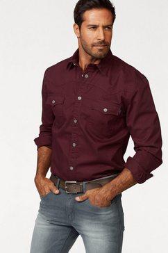 arizona overhemd met lange mouwen in westernstijl rood