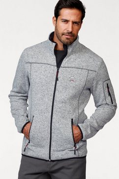 man's world tricot-fleecejack grijs