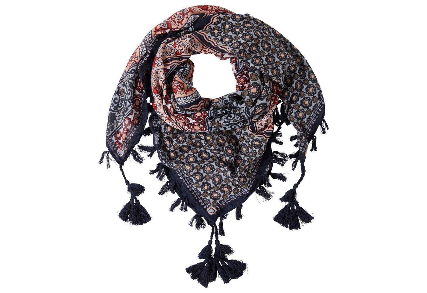 TOM TAILOR Sjaal »Sjaal met kwastjes en motief«