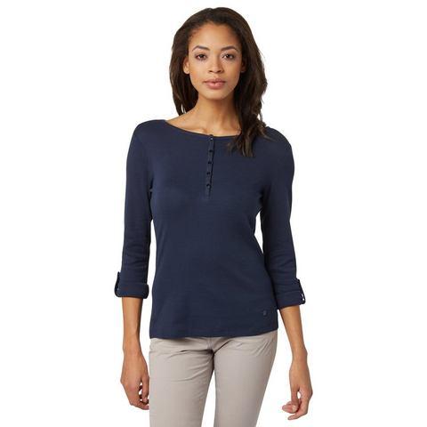 TOM TAILOR T-shirt »Shirt Mit Turn-Ups und Knopfleiste«