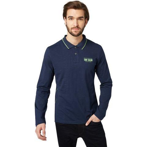 NU 20% KORTING: TOM TAILOR Poloshirt »Langarm-Polo mit farbigen Details«