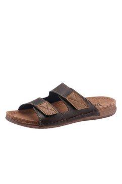 fischer slippers met pu-antislipzool bruin