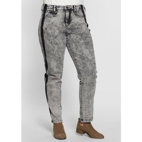 NU 20% KORTING: SHEEGO DENIM stretchjeans in batik-look