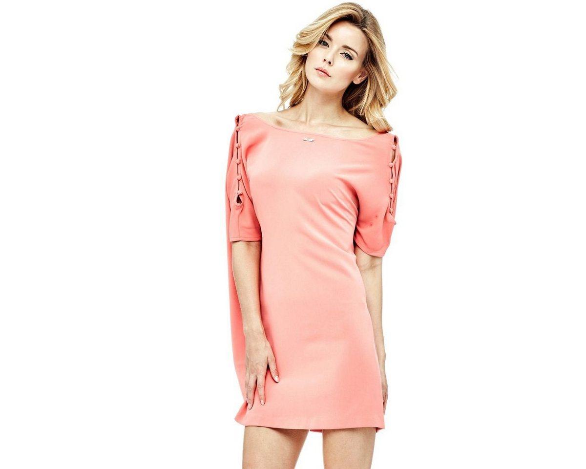 Guess jurk met mouwen met uitsparingen roze