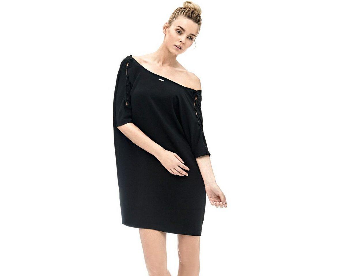 Guess jurk met mouwen met uitsparingen zwart