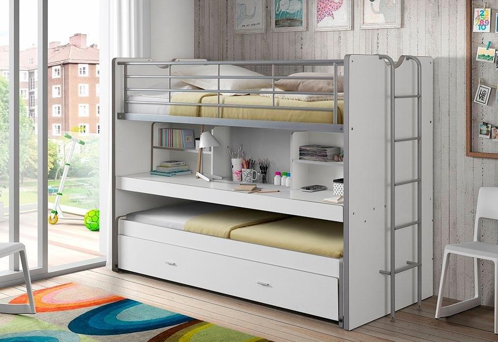 Vipack hoogslaper met mdf, bureau en 3 slaapmogelijkheden »Bonn« veilig op otto.nl kopen