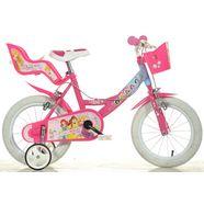 dino kinderfiets, meisje, 14  16 inch, 1 versnelling, »princess« roze