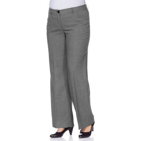 M.I.M Business-stretchpantalon met wijde pijpen