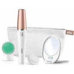 braun gezichtsepilator face spa 851v, epilereer- en reinigingsborstelsysteem wit