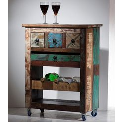 sit keukentrolley »riverboat« van gebruikt hout multicolor