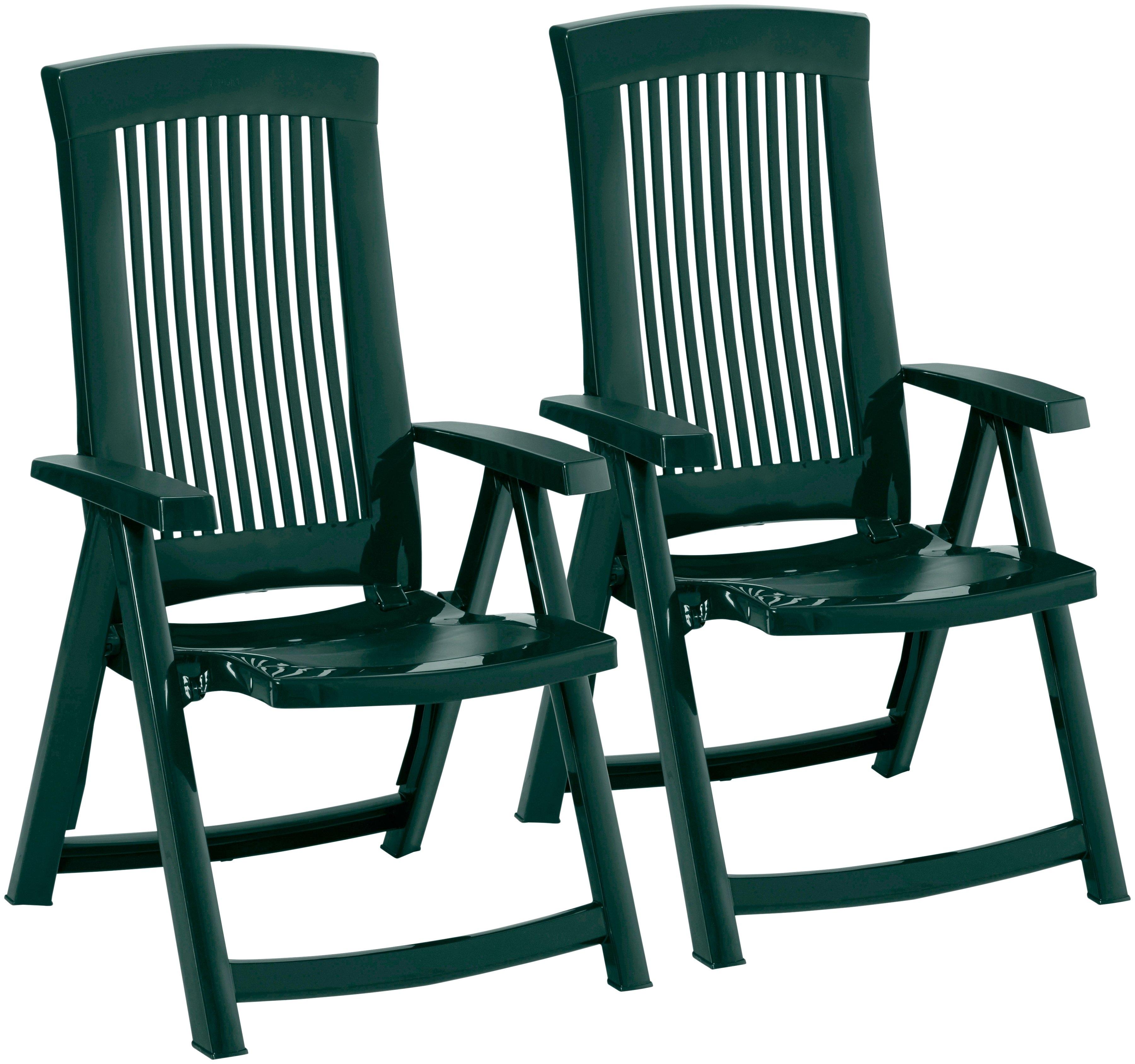 best tuinstoel kansas set van 2 kunststof verstelbaar groen snel online gekocht otto. Black Bedroom Furniture Sets. Home Design Ideas