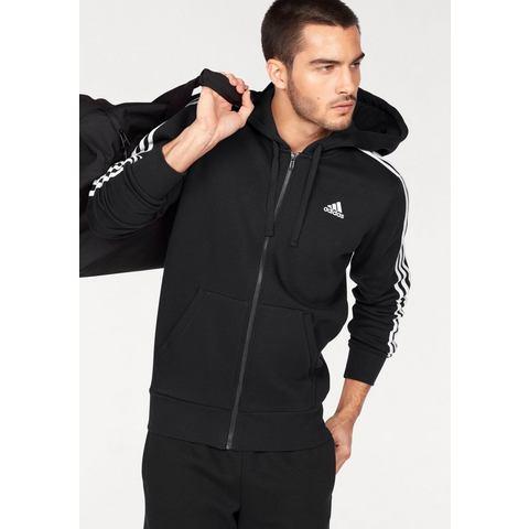 adidas Men's Essential 3 Stripe Fleece Hoody Black XXL