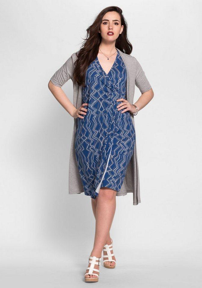 sheego Style Sheego Style jerseyjurk blauw