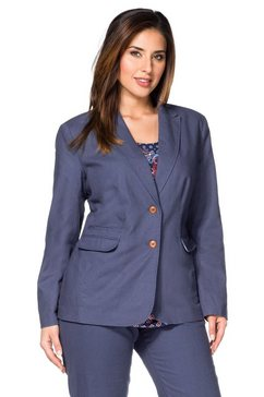 sheego class sheego class linnen blazer met klepzakken blauw