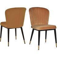 leonique eetkamerstoel dinan set van 2 met zacht verdikte zitting en rugleuning, modern design (set) goud