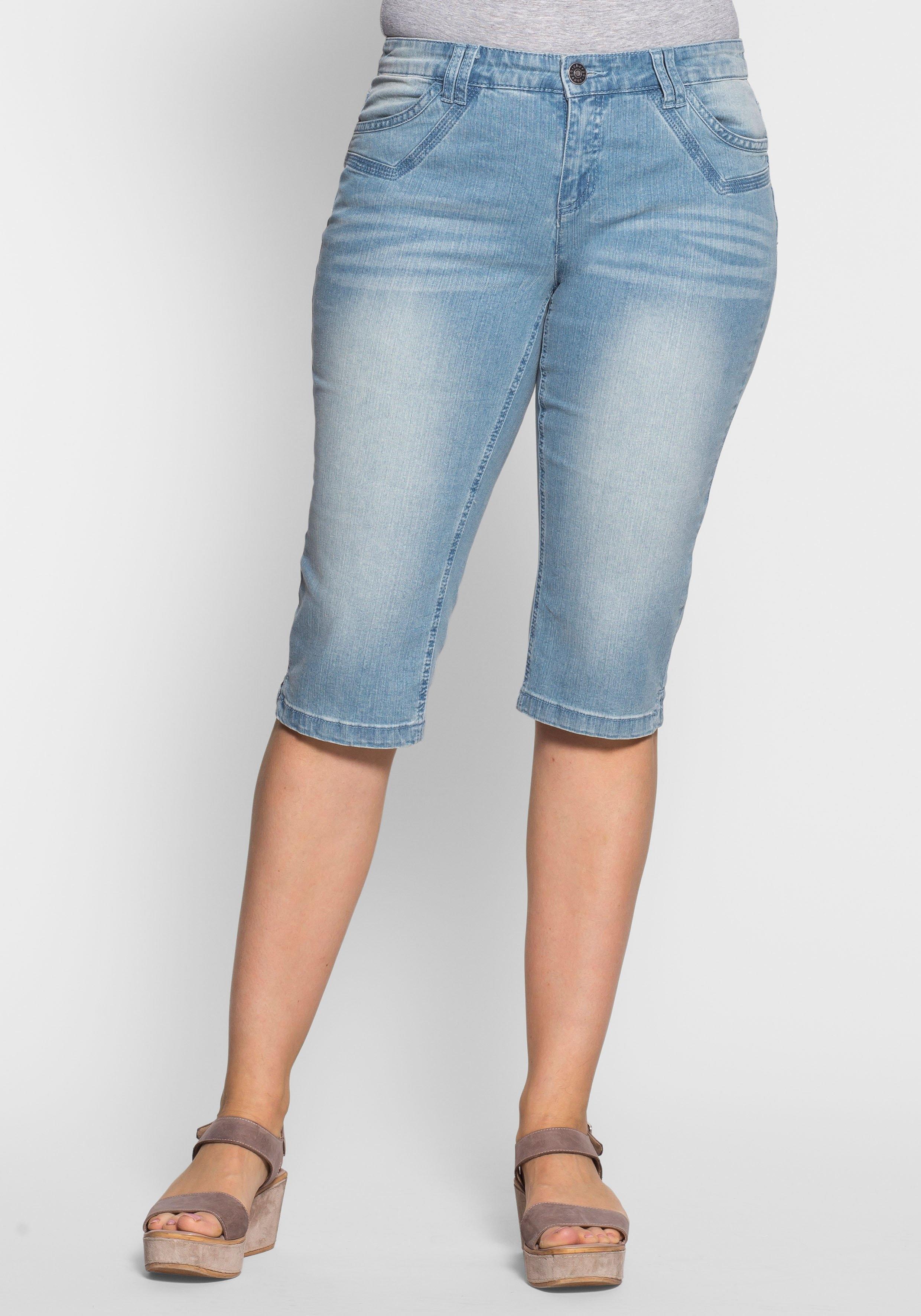 Sheego Denim sheego Denim capri-jeans nu online kopen bij OTTO