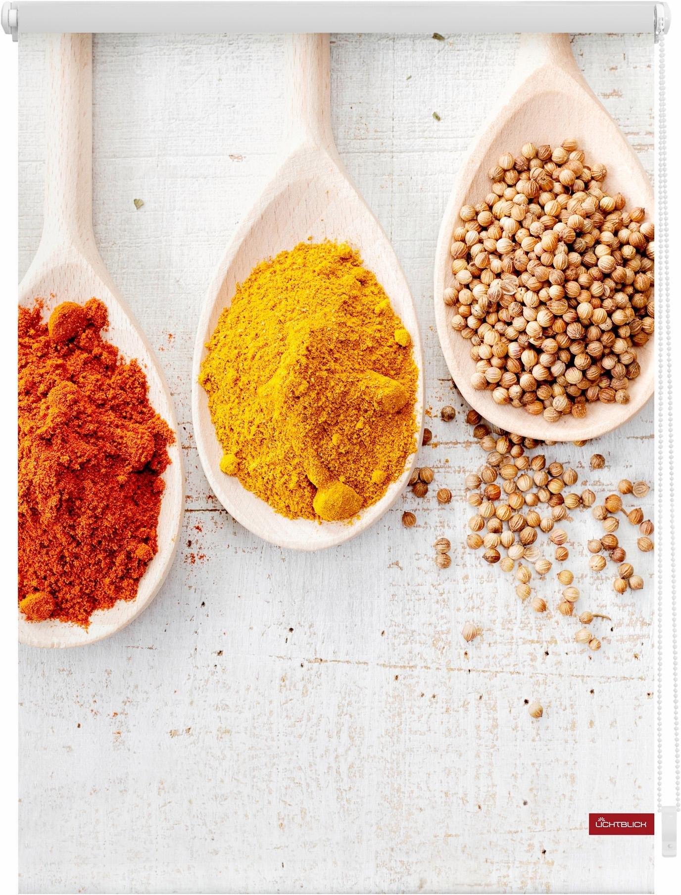 Lichtblick Rolgordijn met zijbediening, »Spices«, Klemmfix, kettingbediening, lichtwerend - gratis ruilen op otto.nl