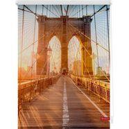 rolgordijn met zijbediening, lichtblick, »brooklyn bridge«, klemmfix, kettingbediening, lichtwerend oranje