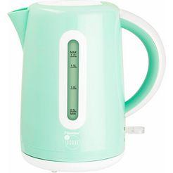 bestron waterkoker awk300evm voor 1,7 liter, 1850-2200 w, mint groen