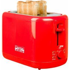 bestron toaster ats300hr, voor 2 sneetjes brood, rood rood