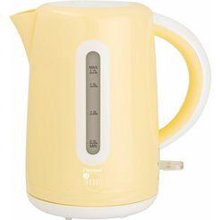 bestron waterkoker awk300evv voor 1,7 liter, 1850-2200 w, vanille beige