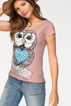 T-shirt met uilenmotief voor