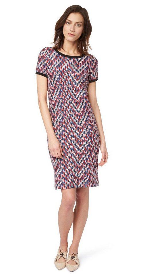 Tom Tailor jurk schönes Kleid aus Jacquard multicolor
