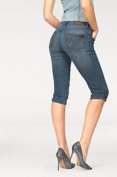 Capri-jeans met aanrimpelingen
