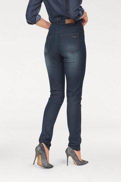 High-waist-jeans met stretch