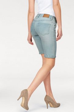 arizona jeansbermuda contrastnaden mid waist blauw