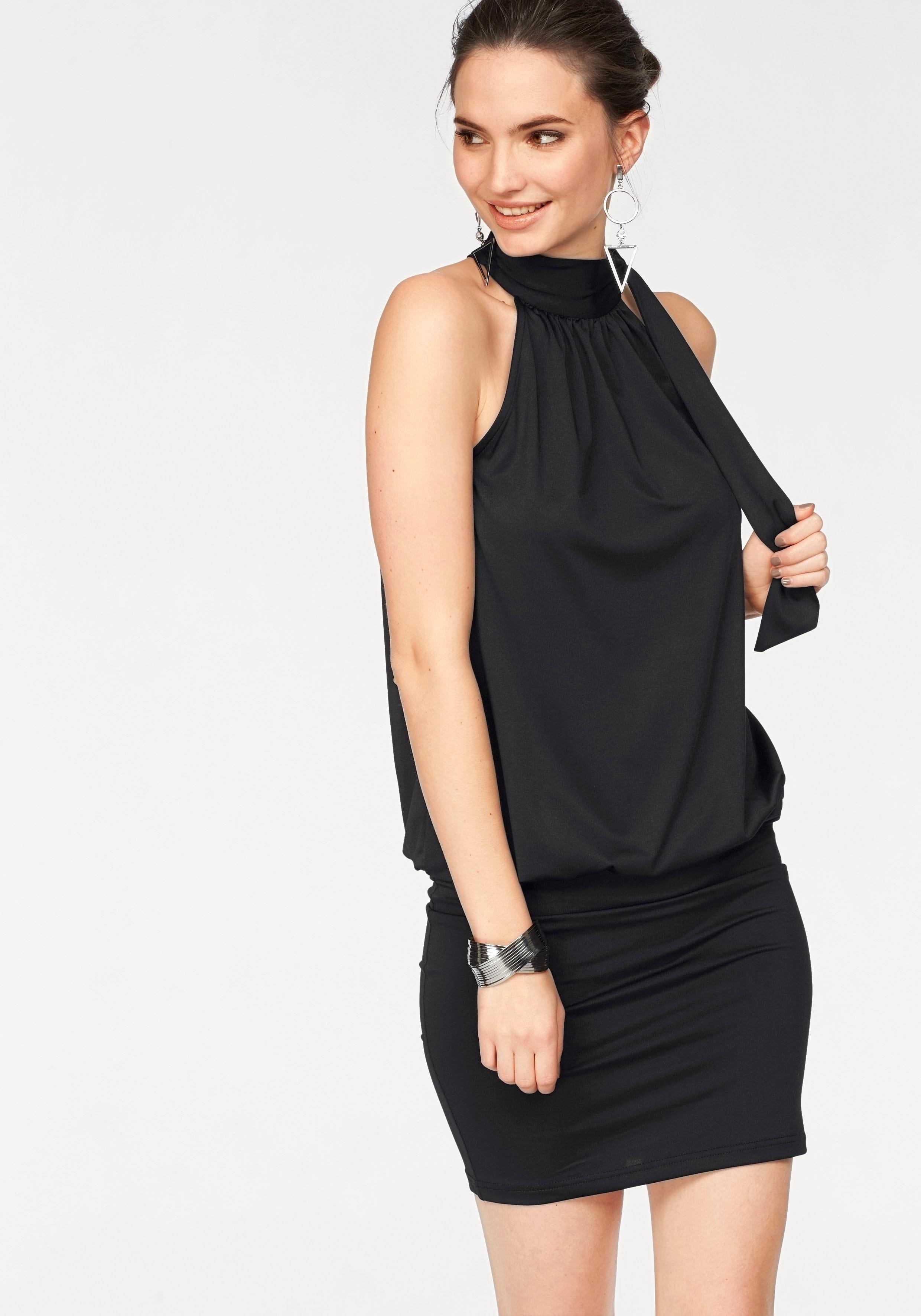 jurk met strakke onderkant