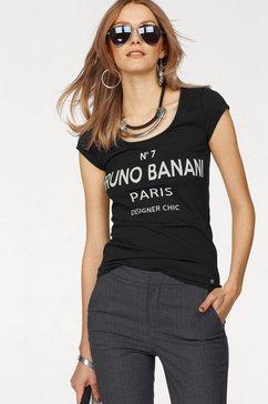 bruno banani t-shirt met frontprint zwart