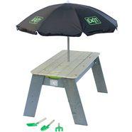 exit speelgoed »speeltafel aksent l deluxe«, bxl: 94x69 cm, inclusief parasol en tuingereedschap 2014