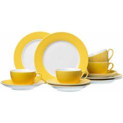 koffieservies, ritzenhoff  breker, 12-delige set geel