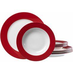 eetservies, ritzenhoff  breker, 8-delige set rood