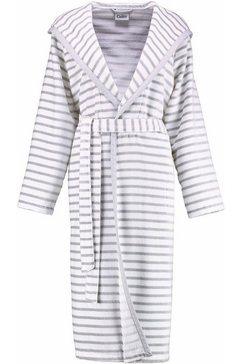 cawoe damesbadjas hooge met strepen (1 stuk) grijs