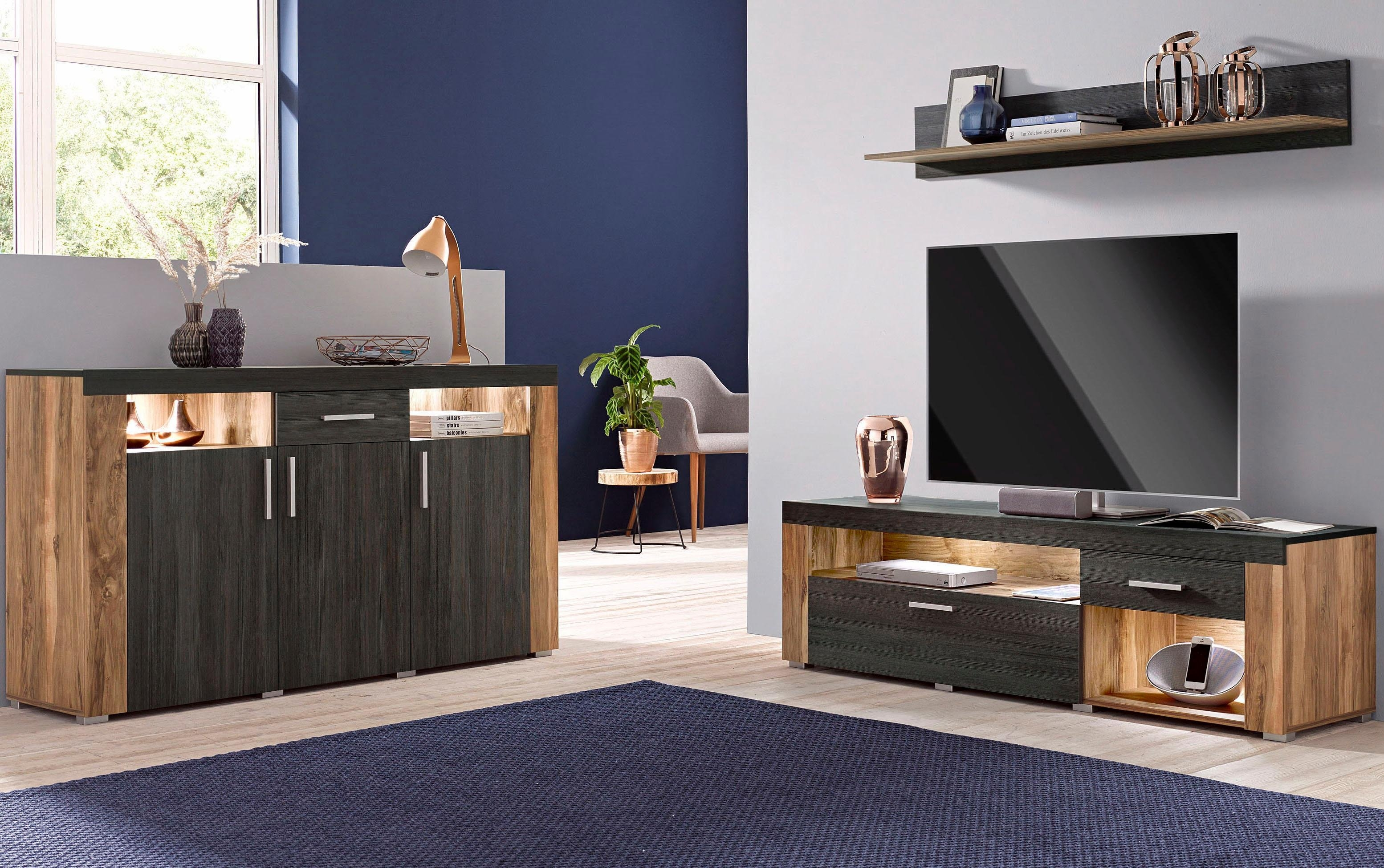 lowboard breedte 160 cm bestel nu bij otto. Black Bedroom Furniture Sets. Home Design Ideas
