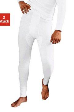 clipper lange onderbroek dubbelrib (2 stuks) wit