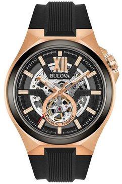 bulova automatisch horloge maquina, 98a177 zwart