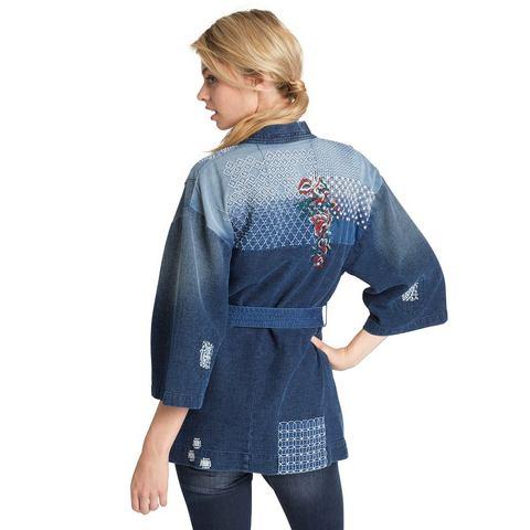 H.I.S Kortjasje »Denim Jacket Kimono«