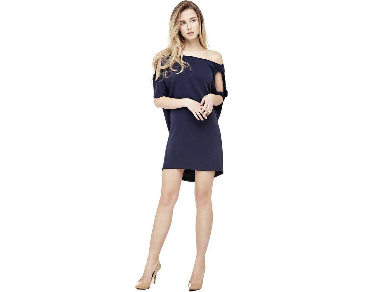 Guess jurk met mouwen met uitsparingen blauw