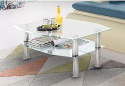 Glazen salontafel, 8-hoekig