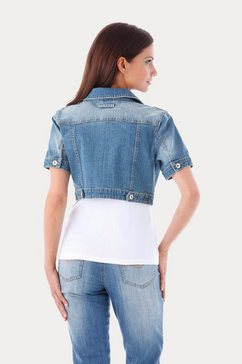 aniston casual jeansjack in used wassing blauw