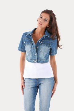aniston casual jeansjack blauw